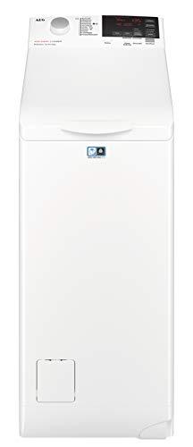AEG L6TB61370 Waschmaschine Toplader / Energiesparender Waschvollautomat / Energieklasse F / Mit ProSense-Technologie und OptiSense Mengenautomatik / 40 cm...
