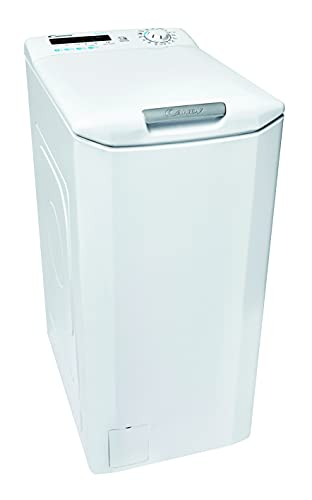 Candy Smart CSTG 272DVE/1-S Waschmaschine Toplader / 7 kg/Smarte Bedienung mit NFC-Technologie/Mix Power System/Gentle Touch Öffnungsmechanismus, Weiß