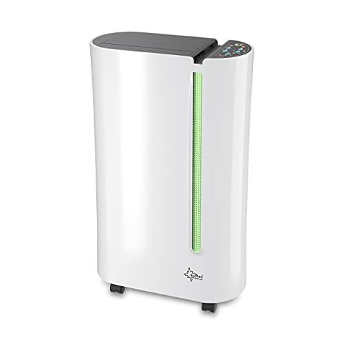 SUNTEC Dryfix 20 Lumio Luftentfeuchter – für Räume bis 150 M³ (ca 65 m2)   Raumentfeuchter mit 20 l/Tag Entfeuchtung   Entfeuchter elektrisch inkl....