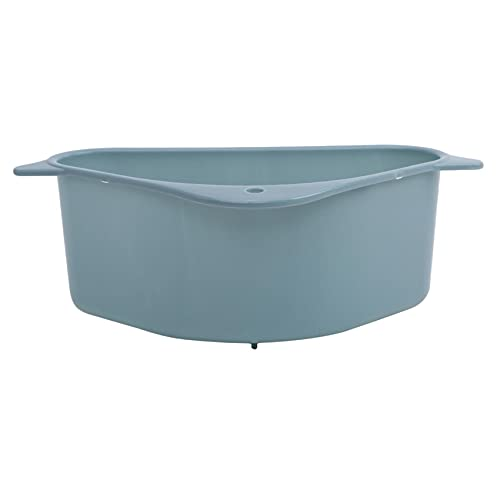 Yinew Drain Rack Organizer Waschbecken Dreieckiger Korb Schwamm Lappen Aufbewahrungskorb Küchenbedarf,Blau