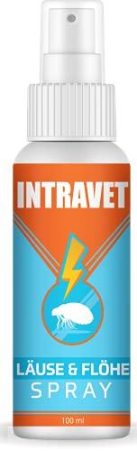 Saint Nutrition® Intravet - Anti Läuse & Flöhe Spray - das Abwehr Spray auf Natürliche Weise für Haustiere, Milben + Flohmittel für Katze und Hund für...