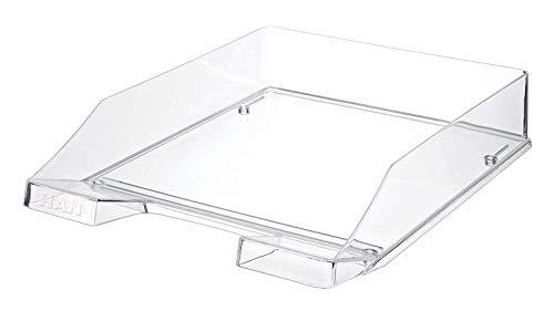 HAN Briefablage KLASSIK TRANSPARENT – 6 STÜCK, moderne, transparente und stapelbare Ablage im frischen Design bis Format DIN A4/C4, transparent-glasklar,...