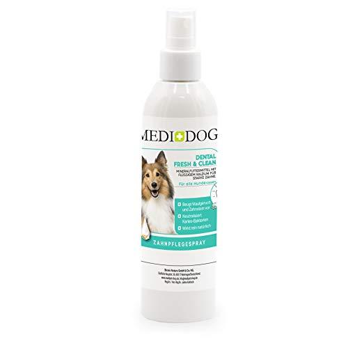 Medidog Dental Fresh&Clean Dentalspray für Hunde und Katzen zur Zahnpflege und Zahnreinigung I Zahnpflege Hunde für frischen Atem I Zahnsteinentferner 250 ml