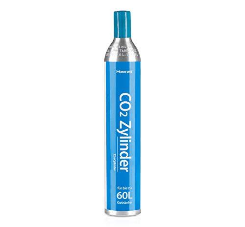 Homewit CO2 Zylinder | erstbefüllt in Deutschland | Pro Füllung bis zu 60 L Sprudelwasser | geeignet für SodaStream(z.B. SodaStream Crystal, Easy, Power &...