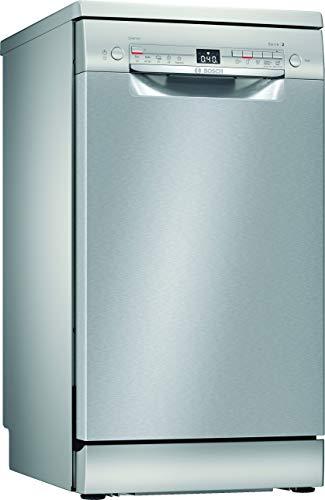 Bosch SPS2XMI01E Serie 2 Freistehender Geschirrspüler / A+ / 45 cm / Edelstahl / 237 kWh/Jahr / 10 MGD / SilencePlus / Extra Trocknen / VarioSchublade / Home...
