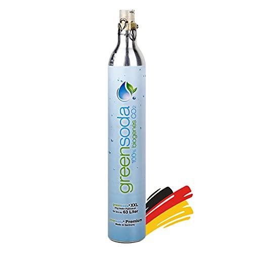 Party Factory Universal 63 Liter Soda-Zylinder für alle handelsüblichen Wassersprudler, 450g Kohlensäure, CO2 Zylinder für SodaStream