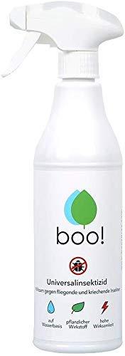 boo! Insektenspray - Insektenschutz als Spray Gegen Mücken, Milben, Bettwanzen Etc - Insektizid - Pflanzlicher Wirkstoff - 500 ml