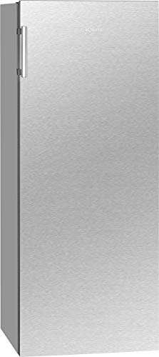 Bomann VS 7316.1 Vollraumkühlschrank/LED-Beleuchtung/Wechselbarer Türanschlag/Nutzinhalt: 242 Liter/inox