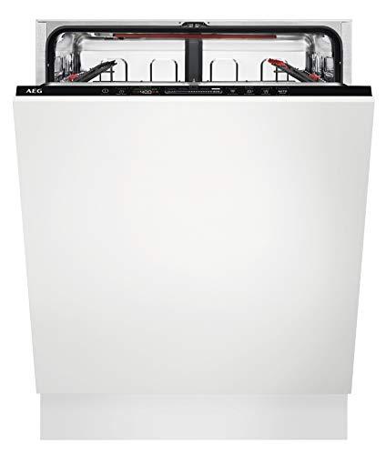 AEG FSE63617P Vollintegrierter-Geschirrspüler / 60cm / AirDry - ideale Trocknungsergebnisse / Effizienzklasse D / energiesparend / Besteckkorb / QuickSelect...