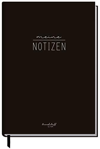 Notizbuch A5 liniert [Black Edition] von Trendstuff by Häfft | 126 Seiten, 63 Blatt | ideal als Tagebuch, Bullet Journal, Ideenbuch, Schreibheft | nachhaltig &...