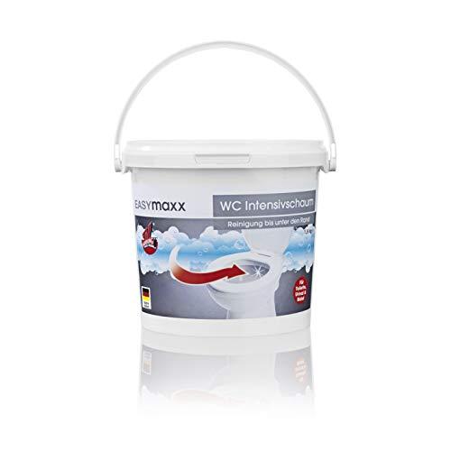 EASYmaxx WC Reiniger Extra Stark | Toilettenreiniger mit Hygienefaktor, WC Schaum mit extrem starker Formel für saubere Ergebnisse [1,5 kg]
