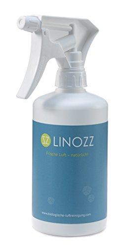 Geruchsneutralisierer Linozz für zu Hause 500 ml. Entferner von Gerüchen in Küche, Haushalt, Textilien, Auto, Tierzucht und Gewerbe