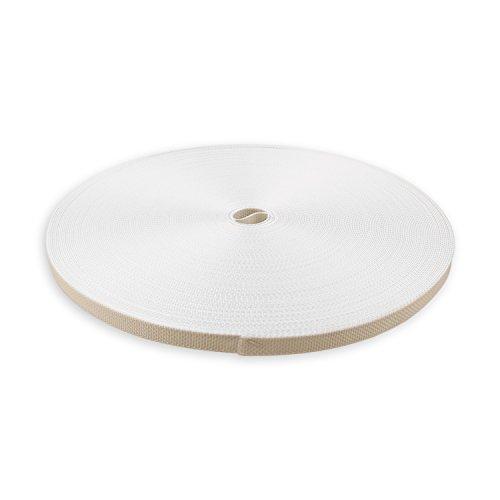 DIWARO® Stabiler Mini Rolladengurt; Jalousiegurt; Gurtband | Gurtbreite 12 mm | Gurtstärke 1,2 mm | Antibakteriell | 50m Rolle | Farbe: beige