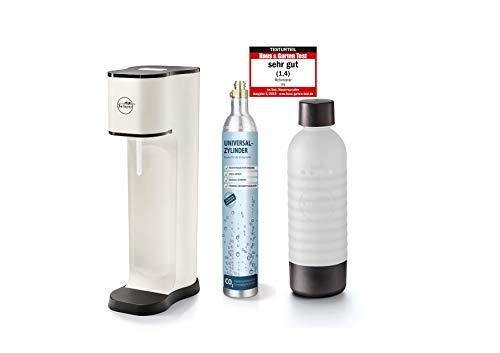 Sodapop JOY FASHION - Trinkwassersprudler inklusive PET-Flasche und CO2-Zylinder für 60L Sprudelwasser, matt white