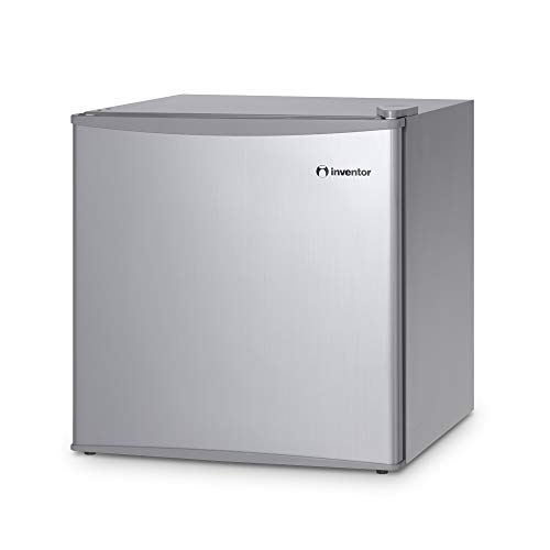 Inventor Mini-Kühlschrank 43 L, Energieklasse A++, Farbe Silber, Leise ideal für die Küche, das Schlafzimmer, Hotels und kleine Wohnungen