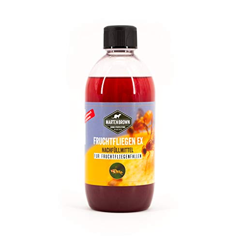 Martenbrown® Fruchtfliegen Ex [500ml] Fruchtfliegenfalle Lockmittel Obstfliegenfalle I Köder für Obstfliegen I Fruchtfliegen bekämpfen I Mittel gegen...