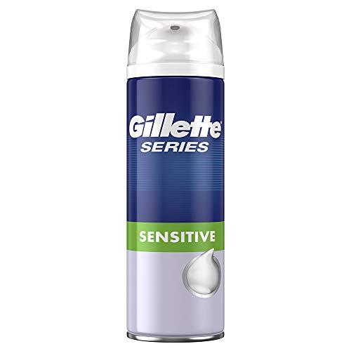Gillette Series Sensitive Rasierschaum Männer mit Aloe für Schutz und Feuchtigkeit für die Haut, 250 ml