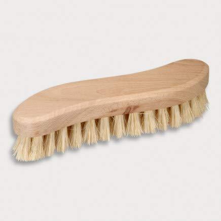 HOFMEISTER® Holz-Scheuerbürste, 21 cm, für Starke Verschmutzungen, stabile Fibre-Natur-Borste, verträgt Hitze & Reinigungsmittel, Waschbürste für...