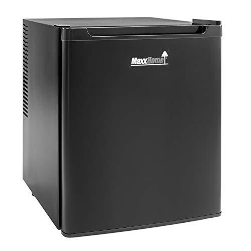 MaxxHome - Mini Kühlschrank (42L) mit Kühlbereich von 5-12° - Lautloser Kleiner Kühlschrank - 230V Minikühlschrank mit verstellbarem Regal