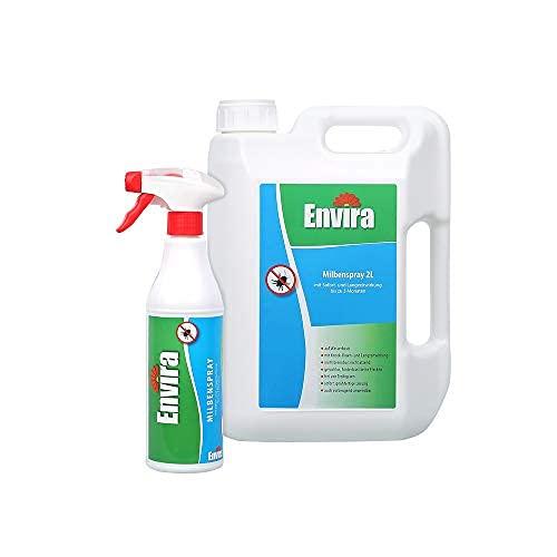 Envira Milben-Spray - Anti-Milben-Mittel Mit Langzeitwirkung - Geruchlos & Auf Wasserbasis - 500 ml & 2 Liter