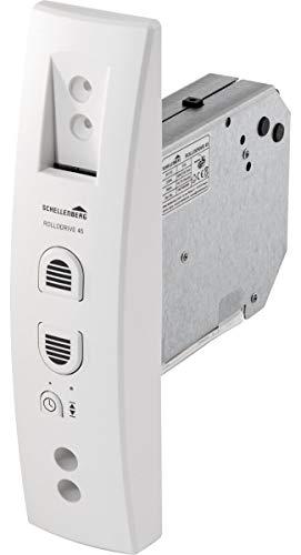 Schellenberg 22745 Elektrischer Gurtwickler Unterputz RolloDrive 45, bis 4 m² Rollladenfläche, 23 mm Gurtbreite Zugkraft 12 kg, mit Zeitautomatik und Netzteil