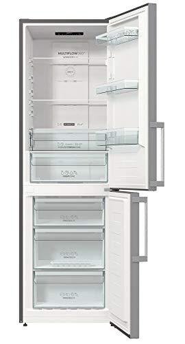 Gorenje NRK 6192 ES5F Kühl-Gefrierkombination / 185 cm / 302 l / No Frost Plus / Multi Airflow System / Silber, metallisch
