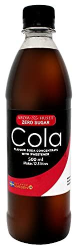 Zero Cola Getränkesirup - Zuckerfrei limonaden konzentrat - 500 ml - Funktioniert mit allen Wassersprudler - Geben 12,5 liter Leckerer Cola Soft Drink ohne...
