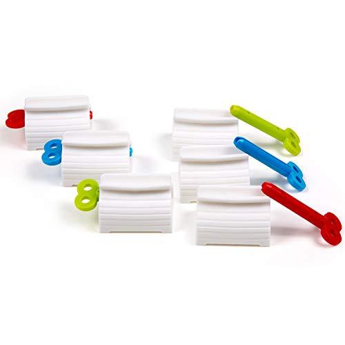 Zahnpastaspender, Comius Sharp 6 Stücke Rolling Tube Zahnpasta Squeezer, Zahnpastaspender Squeezer, Rolling Tube Tubenquetscher, Squeezer Tubenpresse Set für...