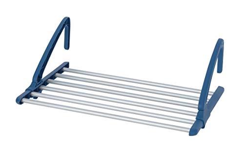 WENKO Teleskop Balkonwäschetrockner Alu - Universal Heizkörper- und Balkonwäschetrockner, ausziehbar, Aluminium, 57-106 x 21 x 37.5 cm, Silber matt