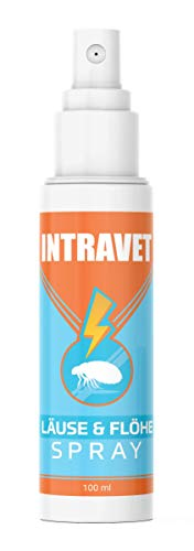 Saint Nutrition Intravet - Anti Läuse & Flöhe Spray - das Abwehr Spray auf Natürliche Weise für Haustiere, Milben + Flohmittel für Katze und Hund für...