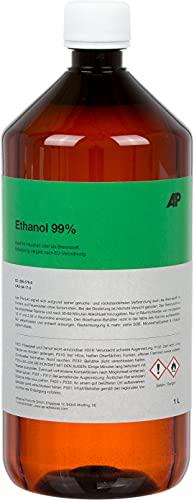 1L Ethanol 99%, Synthetische Qualität, vergällt, ideal im Haushalt oder als Brennstoff (1 L)