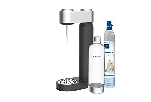 Philips ADD4902BK/10 GoZero Sprudelwasserbereiter, Kunststoff, 1 Liter, schwarz