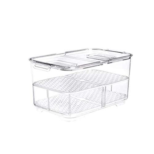 ADSE Vorratsbehälter mit Griffen für Küche, Kühlschrank, Gefrierschrank, Speisekammer und Schrank Organisation Aufbewahrungsbox