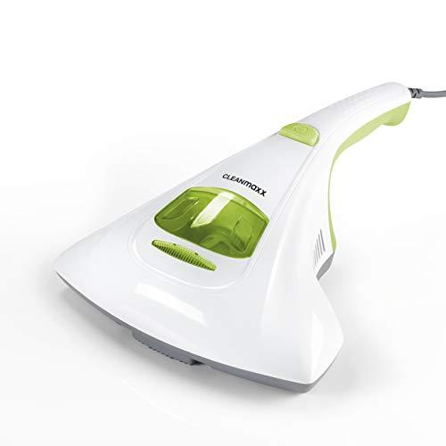 CLEANmaxx Milben-Handstaubsauger | Matratzenreiniger mit starker Saugkraft, sterilisiert Oberflächen mit UV-C Licht | Vernichtet bis zu 99,9% Aller Milben...