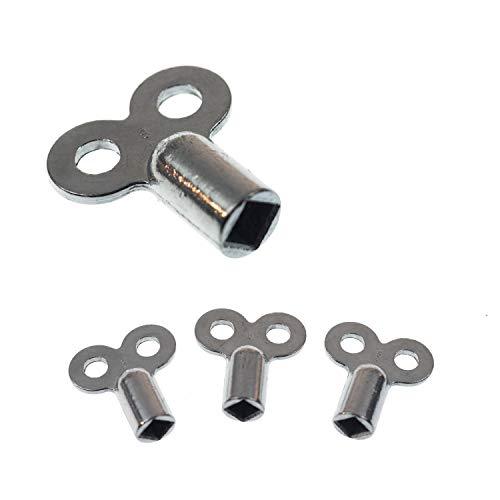 Heizungsentlüftungsschlüssel | 4 Stk. | passend für alle Heizkörper | kein abbrechen | einfaches entlüften | verzinkt | hochwertig verarbeitet |...