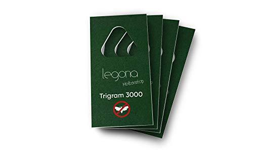 Legona® - Schlupfwespen gegen Lebensmittelmotten / 4X Trigram-Karte à 1 Lieferung/Effektive & Biologische Bekämpfung von Motten in Lebensmitteln/Alternative...