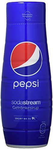 SodaStream Sirup Pepsi Cola - 1x Flasche ergibt 9 Liter Fertiggetränk, Sekundenschnell zubereitet und immer frisch, 440 ml