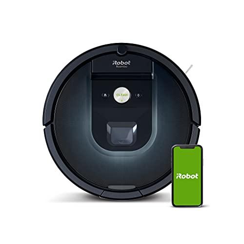 iRobot Roomba 981 WLAN-fähiger Saugroboter mit zwei Gummibürsten, Lädt auf und reinigt weiter, Individuelle Anpassung, Sprachassistenten-kompatibel,...