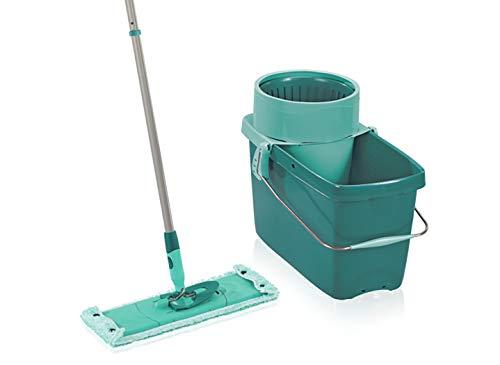 Leifheit rückenschonendes Set Clean Twist XL, Bodenwischer mit Wischbezug für sensible Böden wie Parkett oder Echtholz, Wischer mit Schleudertechnologie, 20L...