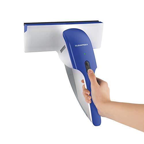 CLEANmaxx Fenstersauger | Akku betrieben, ca. 25 min Dauerbetrieb | Inkl. Wasser-Rückführungs-System [Innovativer Schmutzwasserindikator,...