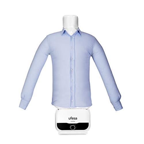 Ufesa SV1200 - Automatischer Hemdenbügler,Bügelpuppe, Bügelautomat, Hemden, Blusen un T-Shirts, Beseitigt Falten und neutralisiert Gerüche, einstellbare...