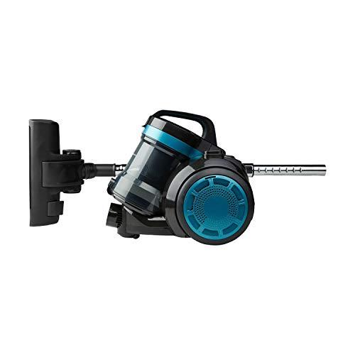 MEDION Zyklon-Staubsauger 800 Watt Leistung, 2 Liter Staubbehälterkapazität, 5 m Arbeitsradius, waschbarer EPA-Filter E12, MD 19407, blau