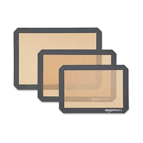 Amazon Basics - Backmatte aus Silikon, 3 Stück