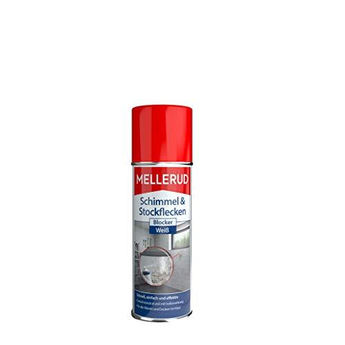Mellerud Schimmel & Stockflecken Blocker – Weißes, hochdeckendes Farbspray gegen Schimmel- und Stockflecken und zahlreiche Verschmutzungen – 1 x 0,2 l