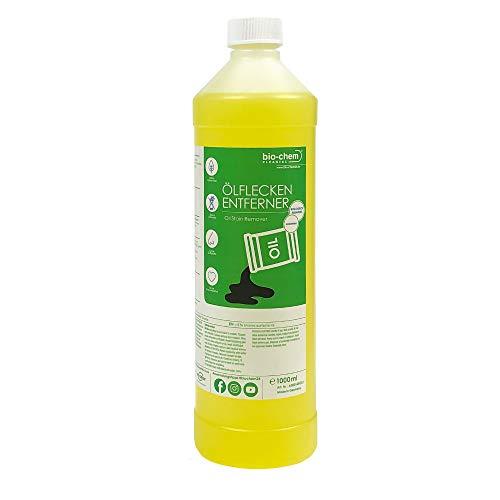 Bio-Chem Ölfleck-Entferner 1000 ml Konzentrat Ölfleckenentferner biologisch abbaubar für Pflastersteine, Asphalt u.v.m.