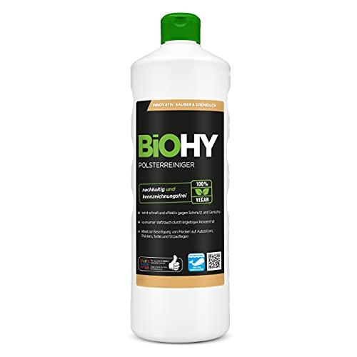 BiOHY Spezial Polsterreiniger (1l Flasche) | Ideal für Autositze, Sofas, Matratzen etc. | Ebenfalls für Waschsauger geeignet
