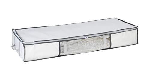 WENKO Vakuum Soft Unterbett-Box, Polypropylen, 105 x 15 x 45 cm, Weiß