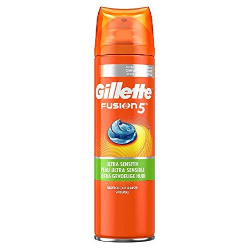 Gillette Fusion 5 Rasiergel Männer, Ultra Sensitive, schützt und kühlt die Haut, 200 ml