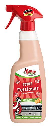 Poliboy Power Fettlöser - Küchenreiniger gegen Fett, Eingebranntes & Schmutz - Sprühmatic 500 ml - Made in Germany