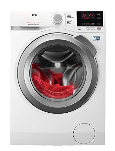 AEG L6FBA68 Waschmaschine / 8 kg / Waschvollautomat mit Mengenautomatik, Nachlegefunktion, Kindersicherung, Schontrommel / 1600 U/min